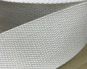 """2"""" Cotton Webbing x 54 yard roll.  Natural or black, 5cm width, Bag handles, bag strap for tote bag / upholstery webbing / sold by the yard"""