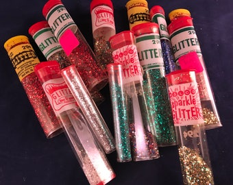 Lot of 15 Packages of Vintage Glitter