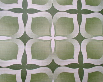 full roll vintage wallpaper 'green tiles' / original European wallpaper / Tapete / behang