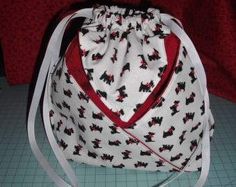 Scottie Dog Draw String Bag