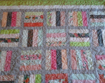 shabby chic twin size quilt