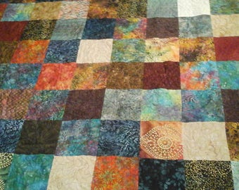 King size bohemian  style quilt