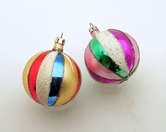 Vintage Christmas Glass Ornaments Poland