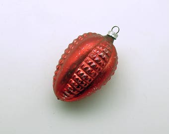 Vintage Christmas Ornament Glass Ornament Red Fancy Christmas Decoration West Germany
