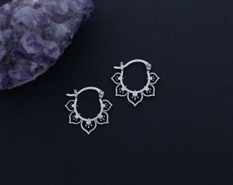 Mini Flower Hoops