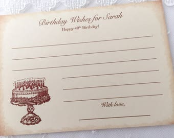 Birthday Wish Cards, Happy Birthday Wish Cards, Birthday Wishes Set of 10