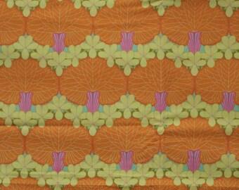 Amy Butler fabric - Nouveau Trees,  Tangerine, 1 yard