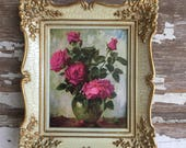 Vintage Floral Prints Gesso Frames - Tiny Art - Made in Germany - New in Package - New Old Stock -Art Choice