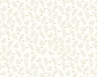 ON SALE Riley Blake Designs Kewpie Christmas - Cream Tonal