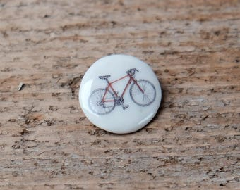 Porcelain Bike Brooch