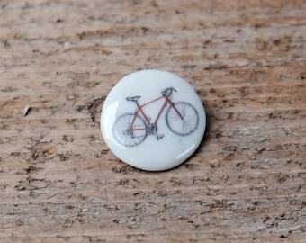 Porcelain Bike Brooch