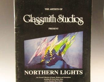 Stained Glass Vintage (1992) Pattern Book - Glassmith Studios Northern Lights -