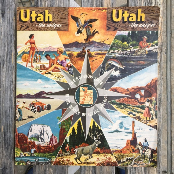 Vintage Utah the unique 1950 Color Travel Guide
