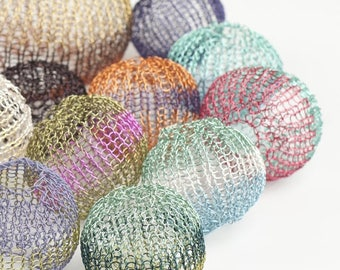 On SALE 20% - Mini Crochet tutorial - Wire Crochet Pattern - Wire Crocheted Balls - PDF pattern - Learn how to crochet perfect round mesh