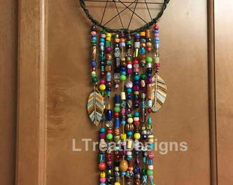 Dream Catcher with lots of multi colored beads