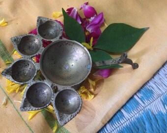 Five Light Aarti Lamp - hand held / small