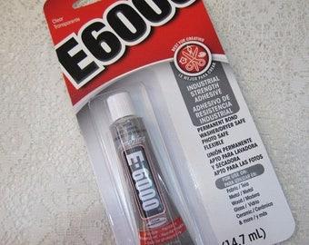 ON SALE E6000 Industrial Strength Adhesive for Metal Glass Ceramics Wood Fiber .5 oz