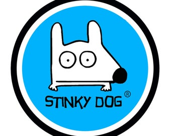 Stinky Dog Car Magnet