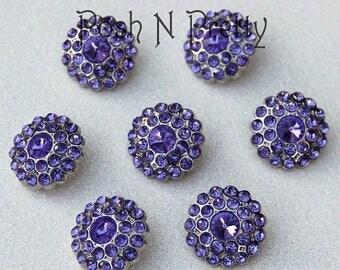 20% OFF EXP 06/30 5 PIECES Gem Elegant Button 24mm - Lavendar