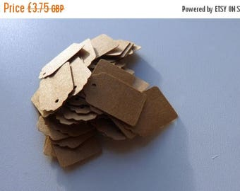 CLOSING DOWN SALE small plain kraft brown card price hang gift tags x 50, also in white, cream, beige or black