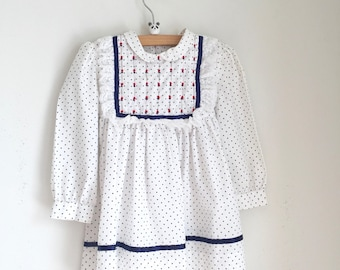 Vintage girls dress polly flinders 3t smocked dress