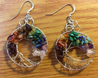 Tree of Life Chakra Earrings - Custom for Chrisi