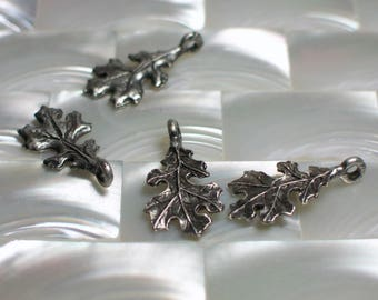 1pc Charm Bead Dangle Oak leaf Antique Silver plated Brass Nature Fauna Jewelry Supplies Jewellery Supplies 1pc