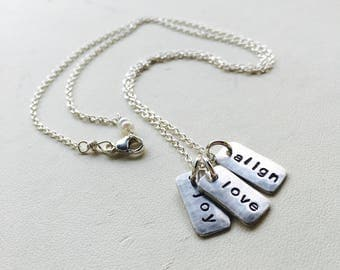 Tag Pendant, Tag Necklace, Personalized Tag, Personalized Tag Necklace, Tag Necklace, Personalized Tag Pendant, Charm Necklace