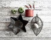 Vintage Tinware Star, Bakeware, Kitchen & Home Decor, Holiday Decoration