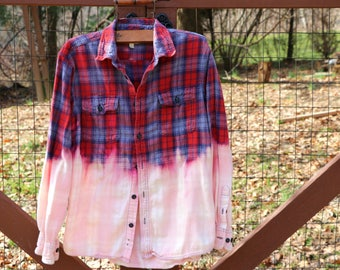 Flannel Shirt, Oversized Flannel, Streetwear, Vintage Flannel, Vintage shirt, Distressed Shirt