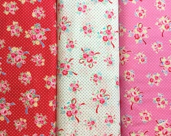 Flower Sugar ~ Sweet Carnival ~ 31378 ~ 3 colors ~ Collection Lecien Japan Cotton