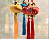 Limited Design - Year of the Dog 2018 Chinese Lucky Lantern Ornaments -  Chinese New Year - lucky Charm - Dog Mom Gift - Car Charm - Unisex