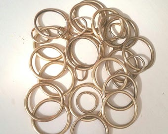 lot of assorted brass rings