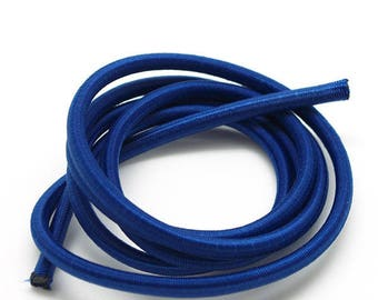 1 m elastic cord - sandow - 4.5 mm - blue royal