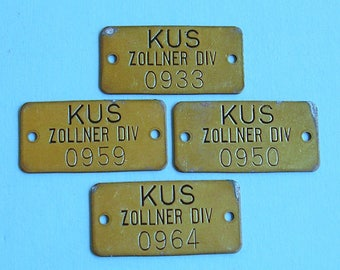 Vintage Antique Brass Numbered Tag Tags Brass Numbered Tag Hotel Room Number Tag Locker Tag Steampunk DIY Jewelry