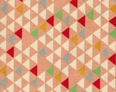 Sale! 1/2 yard Quilt Gate Japanese Fabric - pink and white background