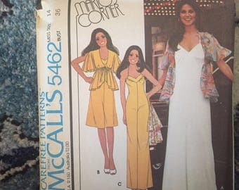 1970s Sewing Patterns, Vintage McCalls Sewing Pattern Marios Corner 70s Dress Pattern Size 14 L Sewing pattern vintage sewing patterns 5462
