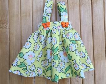 Suspender skirt for Neo Blythe - Yellow White Flowers