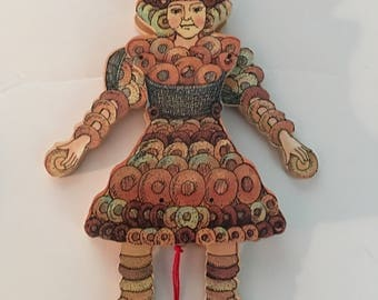 Wooden Pull String Toy Puppet