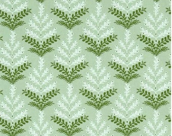 Bough Light Green Spruce North woods by Kate Spain Moda Fabrics 27244 17, green fabric, christmas fabric, kate spain fabric, tree fabric