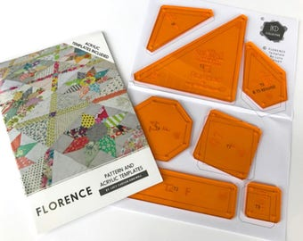 Pattern & Acrylic Templates - Florence - Lucy Carson Kingwell - Jen Kingwell Designs