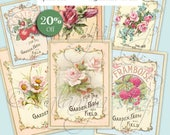 SHABBY GARDEN   Collage Digital Images -printable download file- Scrapbook paper