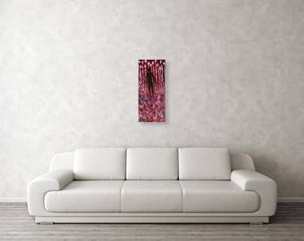 Walking Away - Original Abstract Modern Visionary Oil Painting on Streched canvas, surreal, inspirational, mysterious, sad, dark, goth, noir