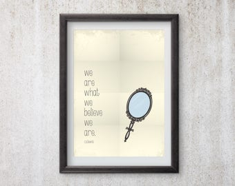We are, minimalist quote poster, Motovational Poster, Wall Art, Wall Quote, CS Lewis Quote, CS Lewis Poster