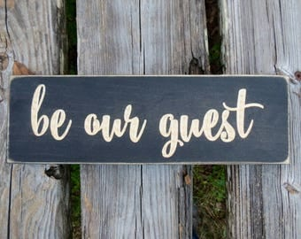 be our guest sign,be our guest,guest room sign,guest room decor,guest room,wood sign,farmhouse decor,farmhouse sign,housewarming gift,sign