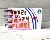 STARBUCKS Notebook with gift card covers front and back