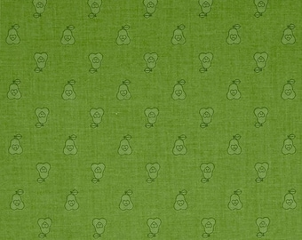 FABRIC Fat Quarter Pears Bee Basics Green   Fat Quarter    We combine shipping