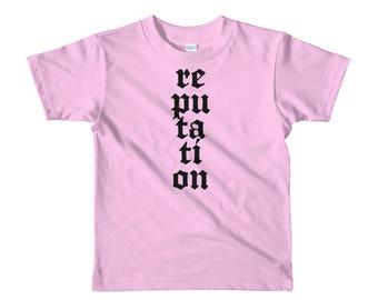 Kids Reputation Shirt, Reputation T Shirt, T Swift Shirt, T Swift T Shirt, Concert, Taylor Swift Gift,Swifty Shirt, Swiftie Shirt, Swifties