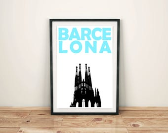 Barcelona Print // Spain Poster // Travel Art // Barcelona Poster // Spanish Print // Barcelona Art // Spanish Art // Spanish Poster