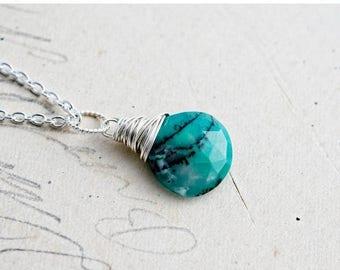 Opal Necklace, Opal Jewelry, October Birthstone, Green Opal, Mint Green, Sterling Silver, Pendant Necklace, Green, PoleStar
